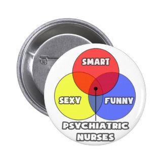 Venn Diagram .. Psychiatric Nurses Pinback Button
