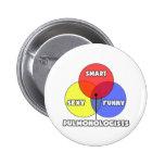 Venn Diagram .. Pulmonologists Pinback Buttons
