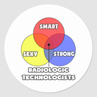 Venn Diagram .. Radiologic Technologists Classic Round Sticker