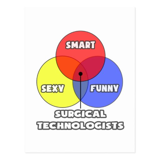Venn Diagram .. Surgical Technologists Postcard