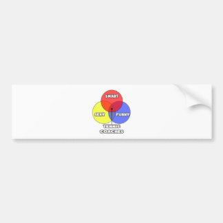 Venn Diagram Tennis Coaches Bumper Stickers