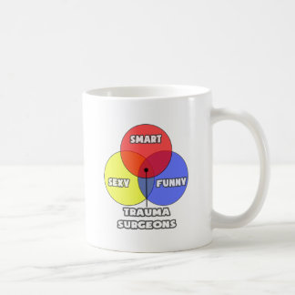 Venn Diagram .. Trauma Surgeons Classic White Coffee Mug