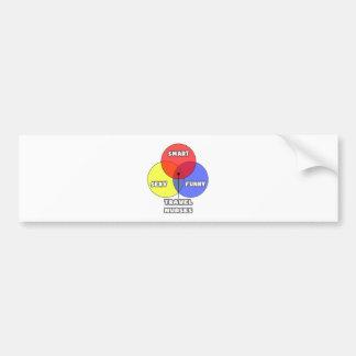 Venn Diagram .. Travel Nurses Bumper Sticker