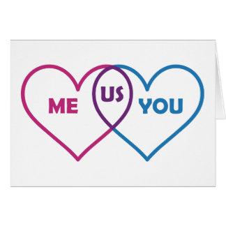 Venn Diagram Valentine - Me You Us Card