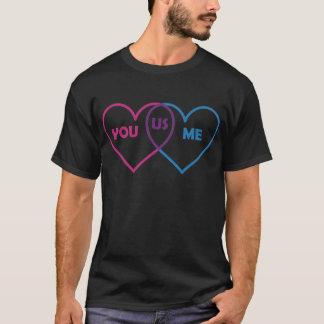 Venn Diagram Valentine - You Me Us T-Shirt