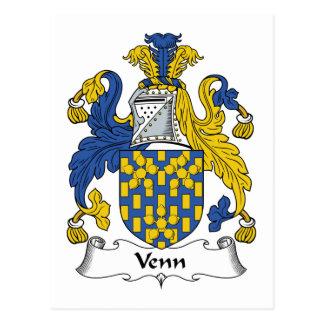 Venn Family Crest Postcard