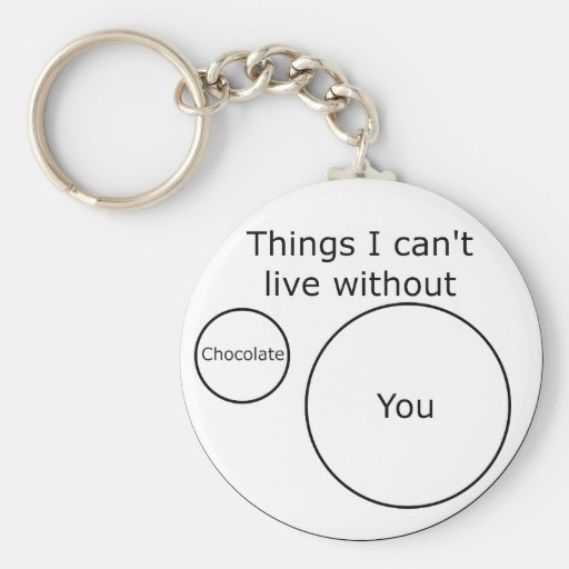 Venn I Can't Live Without You Key Chain