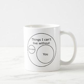 Venn I Can't Live Without You Classic White Coffee Mug