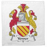 Venner Family Crest Cloth Napkin