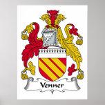 Venner Family Crest Poster