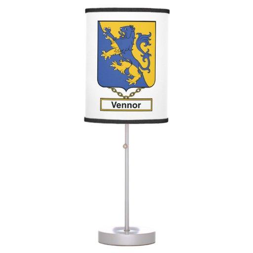 Vennor Family Crest Desk Lamps
