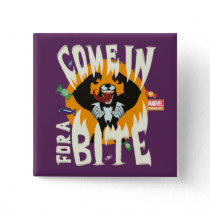 "Venom ""Come In For A Bite"" Button"