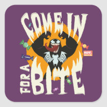 "Venom ""Come In For A Bite"" Square Sticker"