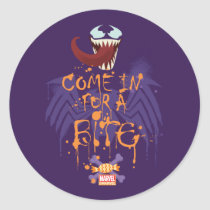Venom Halloween Trap Classic Round Sticker