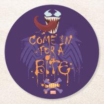 Venom Halloween Trap Round Paper Coaster