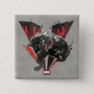 Venom Ink And Grunge Pinback Button