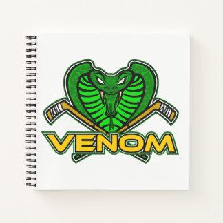 """Venom/Player Spiral 8.5"""" x 8.5"""" Notebook - Holt 57"""