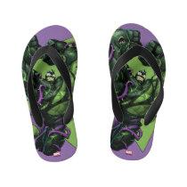 Venomized Hulk Kid's Flip Flops