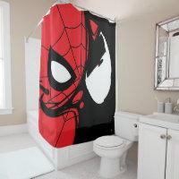 Venomized Spider-Man Logo Shower Curtain
