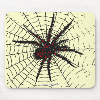 Venomous Black Spider Scary Insect Art Mouse Pad