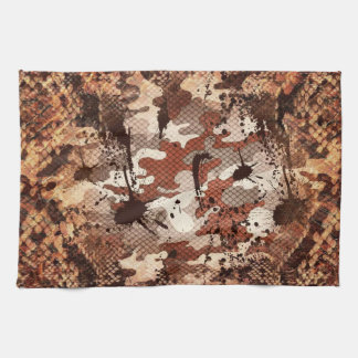 Venomous Snake Skin Camo Kitchen Towel