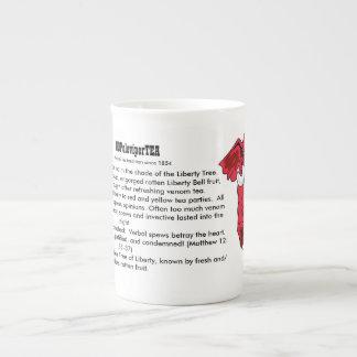 """Venomous Words Betray The Heart"" Porcelain Teacup Tea Cup"