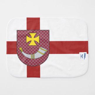 Venstpils Flag Baby Burp Cloth