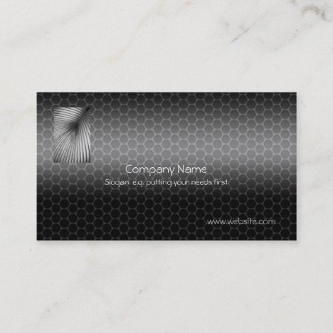 Vent Tubing with Metallic-look template Business Card