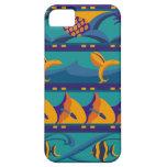 VENTA - azules tropicales/caja anaranjada del iPho iPhone 5 Carcasa
