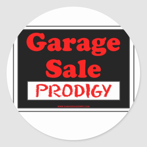 Venta de garaje Prodigy Pegatina Redonda