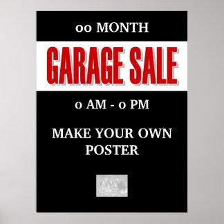 Venta de garaje que hace publicidad de GRANDE prom Póster