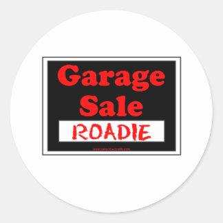 Venta de garaje Roadie Pegatina Redonda