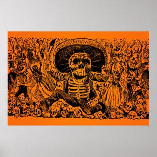 ¡VENTA DE HALLOWEEN! Calavera Oaxaqueña de José Po Posters