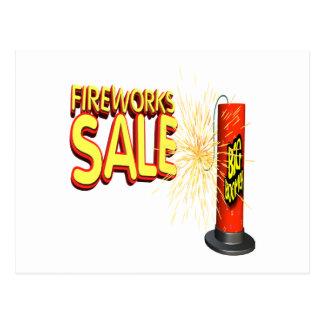 Venta de los fuegos artificiales postales