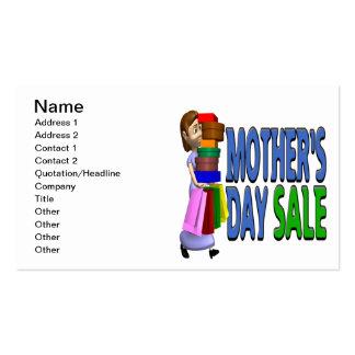 Venta del día de madres tarjetas de visita