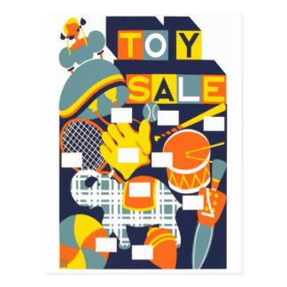 Venta del juguete tarjeta postal