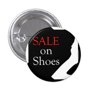Venta en los zapatos con la silueta de un zapato pin redondo de 1 pulgada