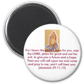 Venta entera de la fe de los pegatinas cristianos imán redondo 5 cm