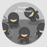 ¡VENTA! Estudiante de Ninja de los pegatinas de la Etiqueta Redonda