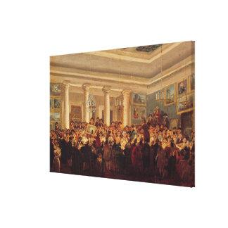 Venta pública en el lingote del hotel lienzo envuelto para galerias