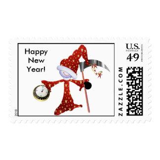 VENTA - sello de la Feliz Año Nuevo del tiempo del