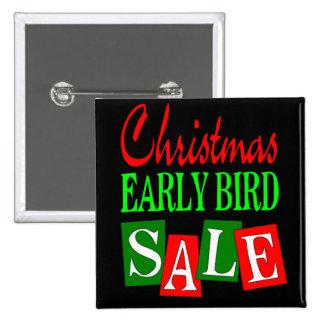 Venta temprana del pájaro del navidad pin cuadrado