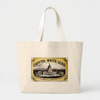 Ventaja blanca 1866 del capitolio bolsas de mano