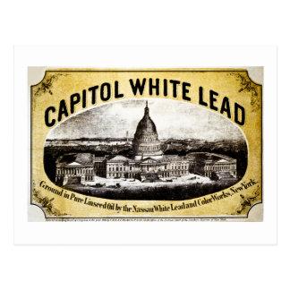 Ventaja blanca 1866 del capitolio tarjetas postales