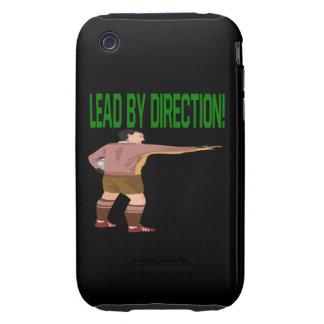 Ventaja por la dirección tough iPhone 3 fundas