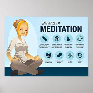 Ventajas de la meditación póster