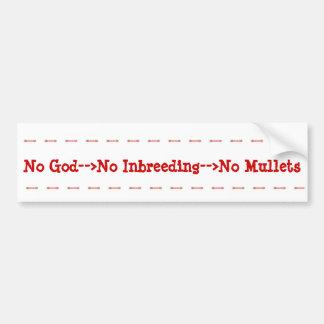 Ventajas del ateísmo pegatina para auto