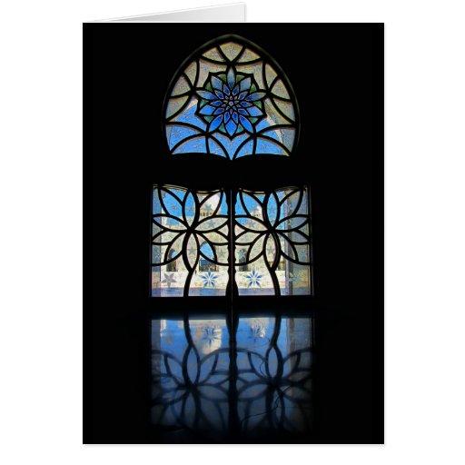 Ventana 2 del salón de la mezquita tarjeton