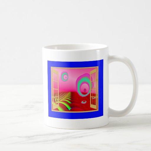 Ventana a un planeta extranjero taza de café