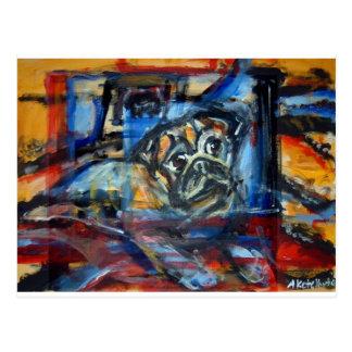 Ventana abstracta del barro amasado postales